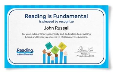 RIF recognizes author John Russell