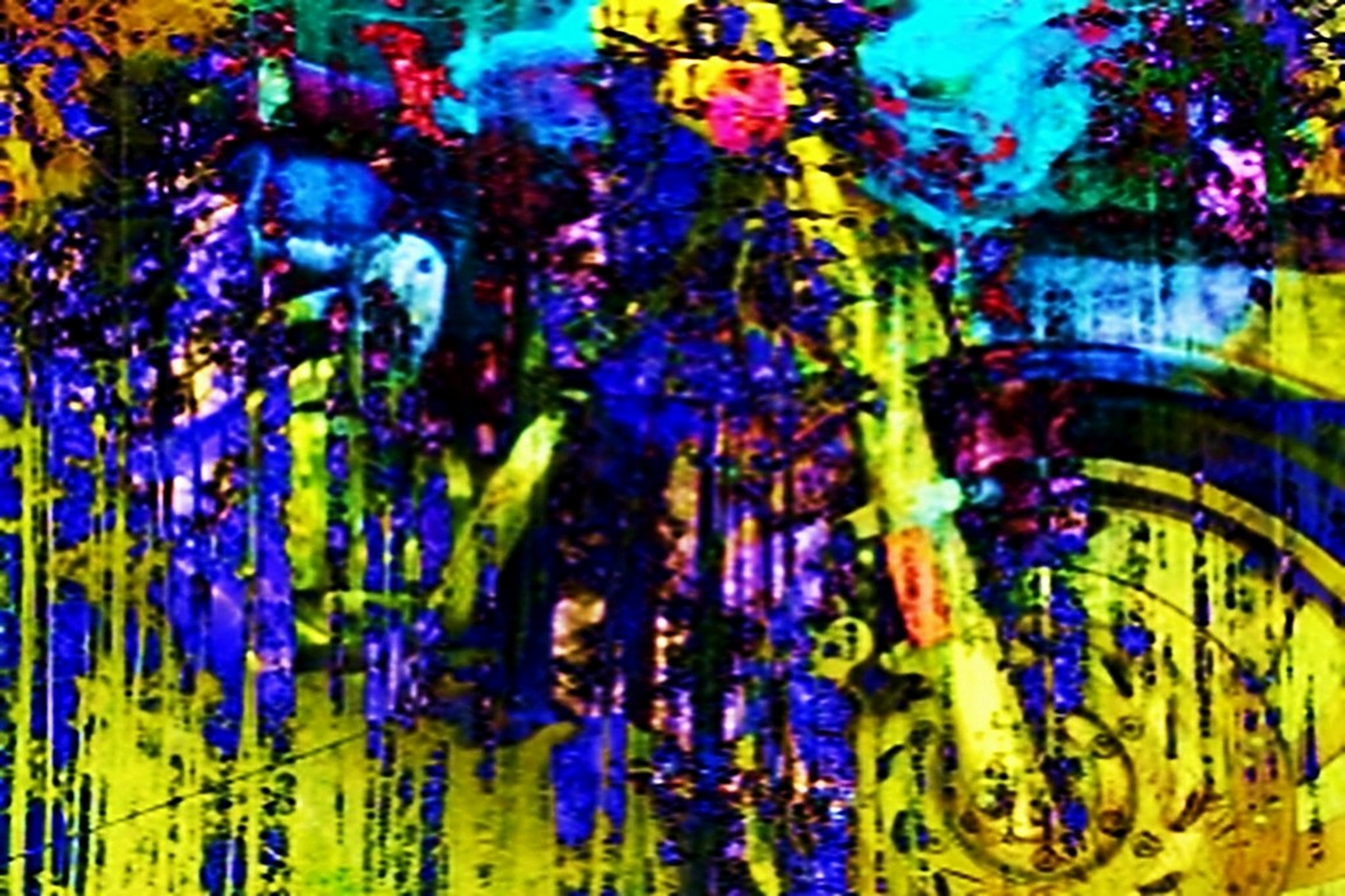 Abstract Photograph: 'Riding in the Pouring Rain' by artist and photographer John Russell
